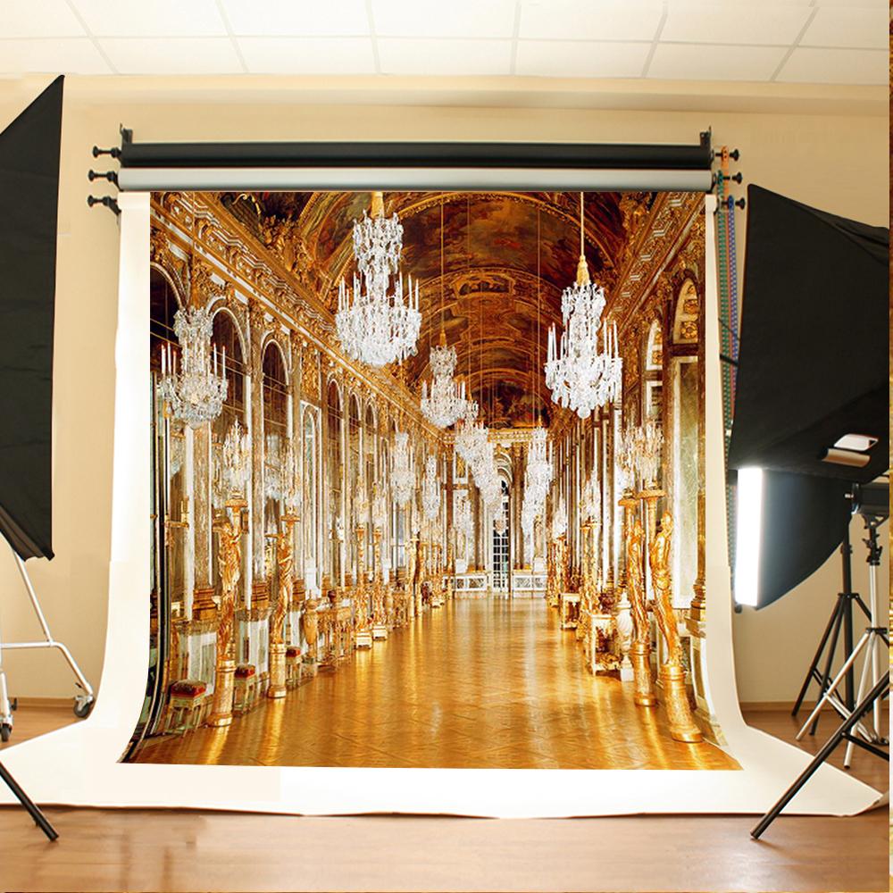 Wedding Photography Backdrops Palace Chandeliers Digital Printing Background Gold Tiles on The Ground Background for Photos digital photography just the stepstm for dummies®