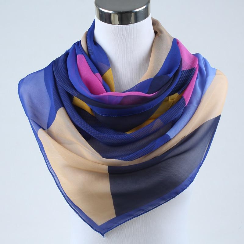 Nueva primavera 2019 moda mujer seda bufanda chiffon chales - Accesorios para la ropa - foto 2