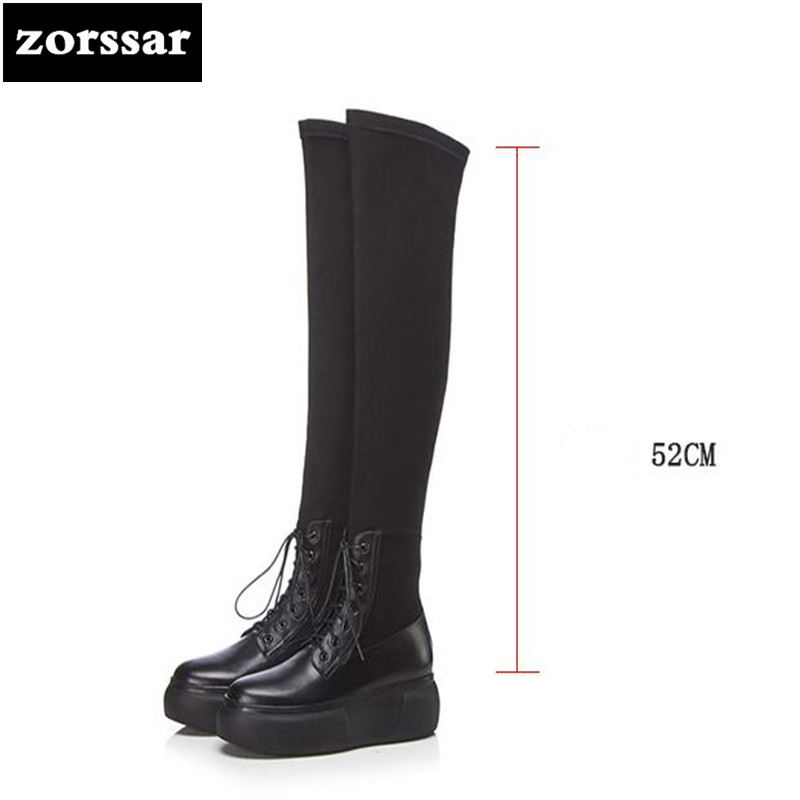 {Zorssar} Fashion Ladies Over the knee Stretch boots Soft Leather Boots Woman Platform boots Warm Fur Women Thigh High Boots{Zorssar} Fashion Ladies Over the knee Stretch boots Soft Leather Boots Woman Platform boots Warm Fur Women Thigh High Boots