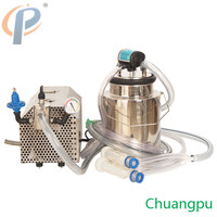 with 10Liter Milk Can Goat/Sheep Vacuum Pump Milking Milk Machine