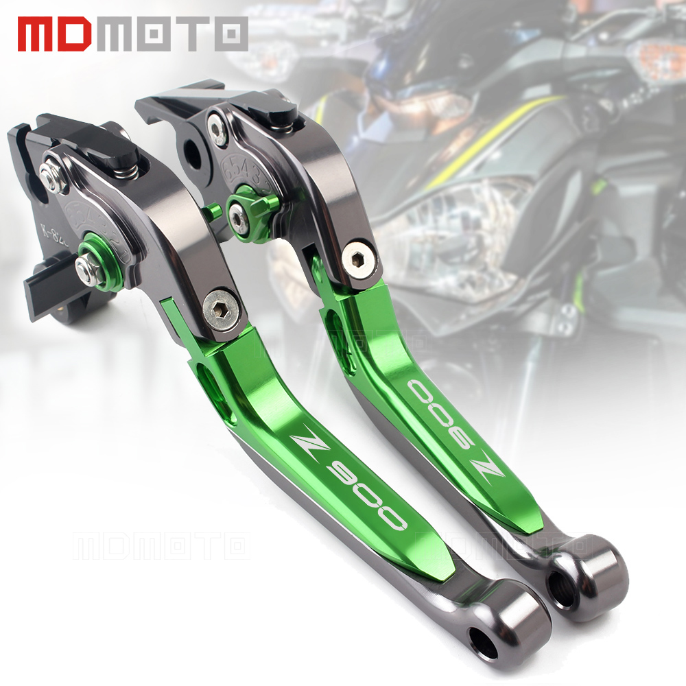 New Adjustable Folding Extendable Motorcycle Brake Clutch Levers Handle For Kawasaki Z900 Z 900 2017 2018 Moto Accessories for kawasaki ninja 250 300 2013 2015 motorcycle accessories adjustable folding extendable brake clutch levers black