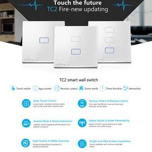 Image 2 - Original Broadlink TC2 EU Standard RF Touch Panel Switch 123 Gang RM PRO Smart Home Universal Wireless WiFi RF Remote Control