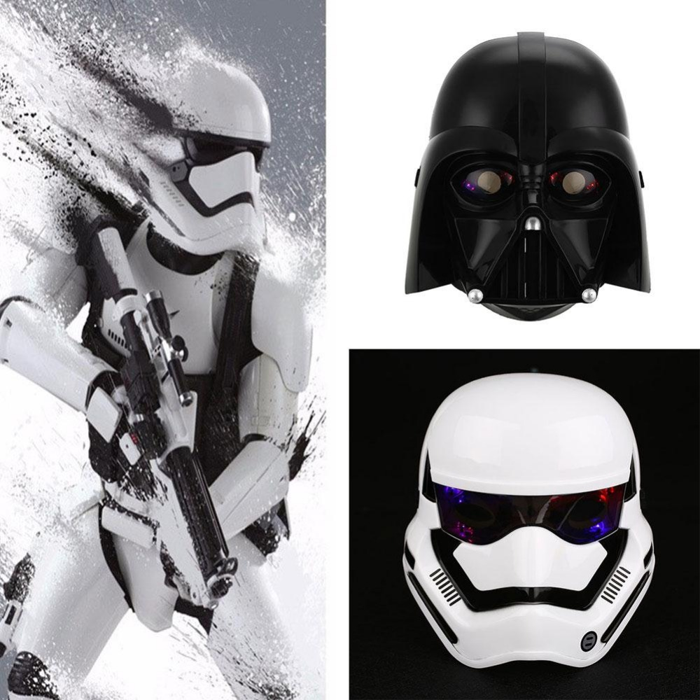 Dress up for masquerade party - Peradix 2 Colors Mask Led Light Stormtrooper Mask Helmet Dress Up Costume Halloween Masquerade Party Cosplay