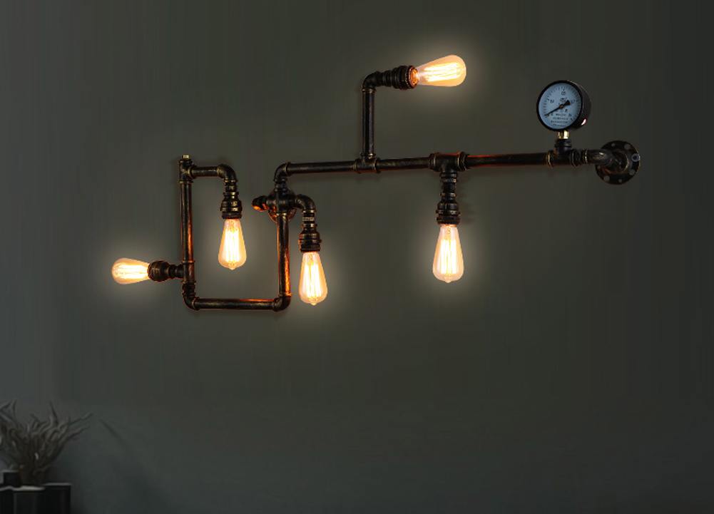 Wall Mounted Paraffin Lamps : ?(^ ^)?Free shipping edison Wall Lamp ? Ancient Ancient Water Pipe Sconce ? American American ...
