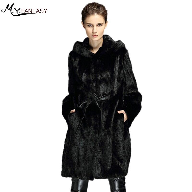 size 40 b94a7 0376e US $1559.0  M. Y. FANSTY 2017 gli Stati Uniti Allungato risvolto modelli di  cappotto di visone completa visone pelliccia di visone femmina visone ...