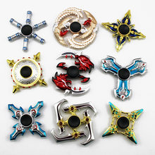 New Golden Metal Fidget Spinner Zinc Alloy Gyro Rotary Hand Spinner for Autism and ADHD Focus Stress Finger Tip toy(China)