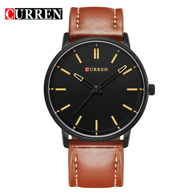 CURREN Luxury Brand Relogio Masculino Date Leather Casual Watch Men Sports Watches Quartz Military Wrist Watch Male Clock 8233 curren luxury top brand men s sports watches fashion casual quartz watch steampunk men military wrist watch male relogio clock