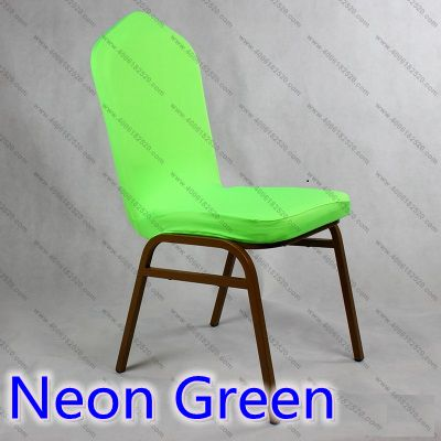 nºneon green color lycra chair cover top cover spandex stretch half
