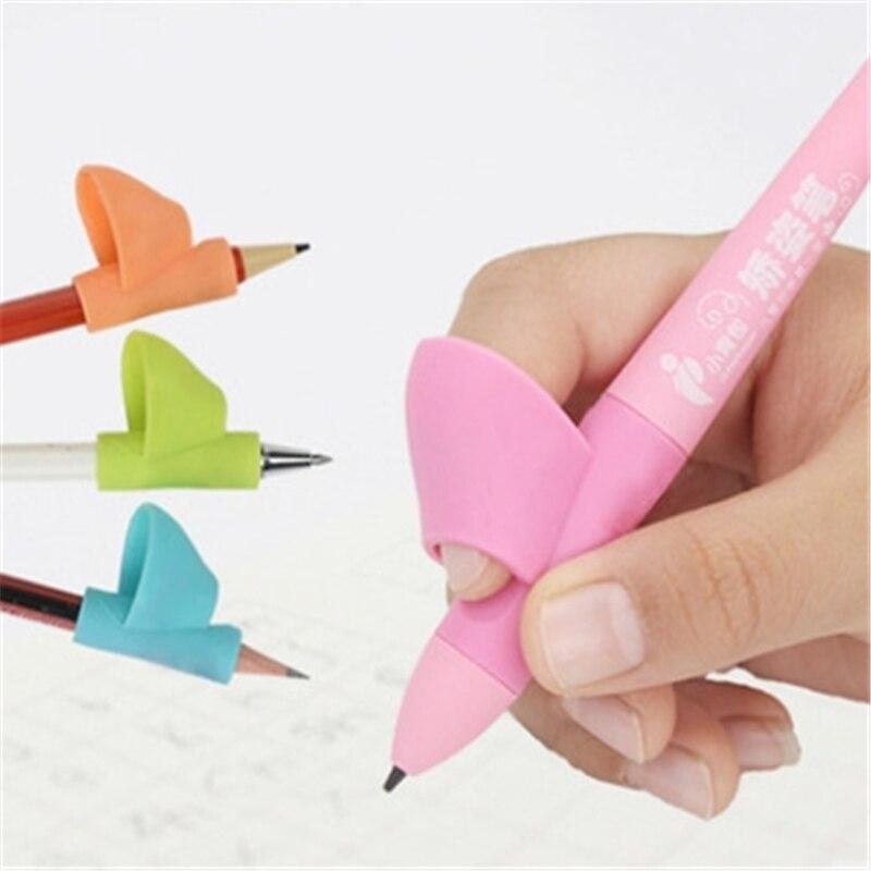 1 шт. силиконовые для маленьких детей пишет коррекции осанки инструмент pen держатель сильный записи коррекции Канцелярский набор образован...