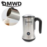DMWD Electric bubble maker automatic Milk Frother Foamer mixer heater Latte Cappuccino hot Foam warmer fancy coffee Machine EU