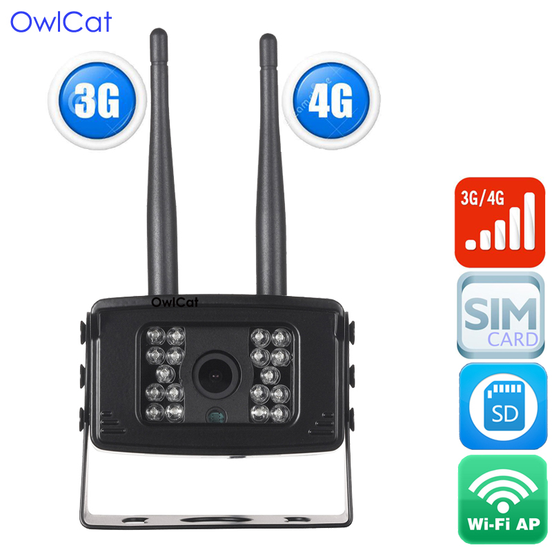 OwlCat SONY323 Outdoor 3G/4G SIM HD 1080P IP Camera WCDMA FDD-LTE/TDD-LTE 2MP SD Memory Waterproof AP Wifi Wireless Mini Camera