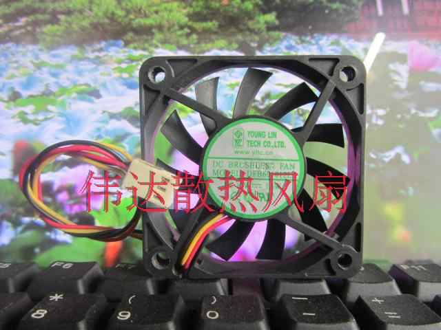 Free Shipping For YOUNG LIN DFB601012L DC 12V 1.6W 3-wire 3-pin connector 90mm 60X60X10mm Server Cooling Square fan