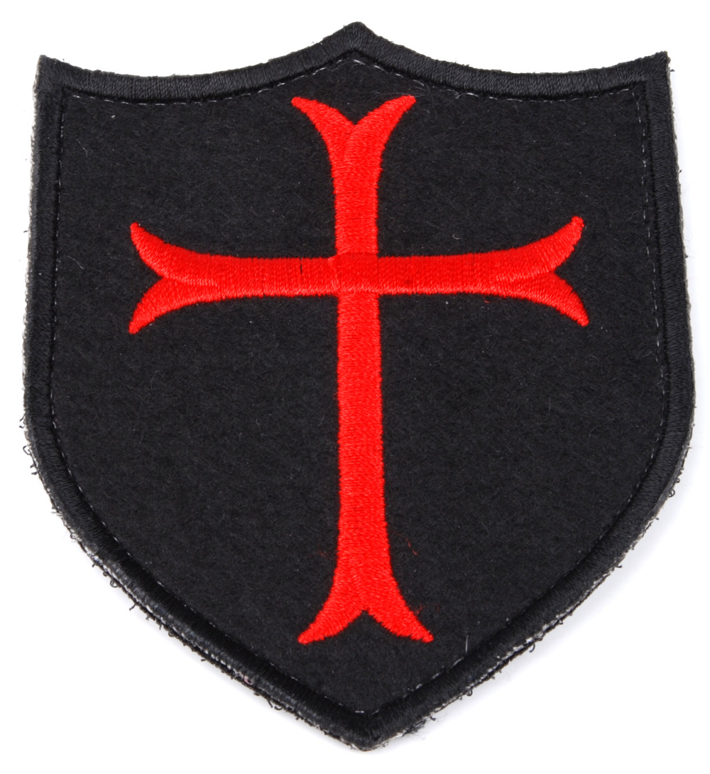 NAVY SEAL DEVGRU CRUSADER CROSS SHIELD TACTICAL EMBROIDERED  PATCH - 36289