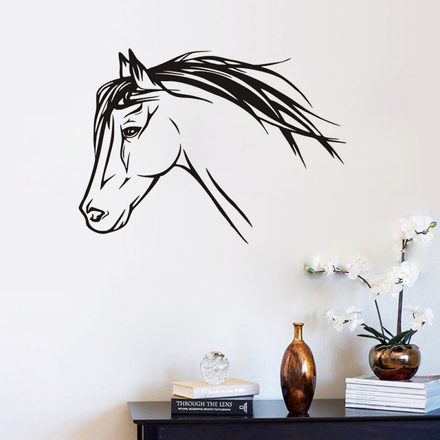DCTOP PVC Nice Horse Wall Decals Silhouette Animals Decorations For Living  Room Art Wall Decal Home