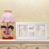 Cute Baby Photo frame DIY handprint or footprint Soft Clay Safe Inkpad non toxic ceremony gift for baby