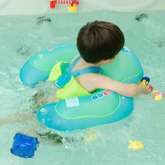 Baby Swimming Ring Inflatable Infant Floating Kids Swim Pool Accessories Circle Bathing Inflatable Double Raft for reseller