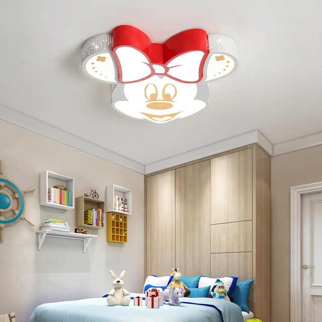 Fashion Led Cartoon Chandelier Cute Child Bedroom Ceiling Lamp Mickey Kindergarten Light Ac85