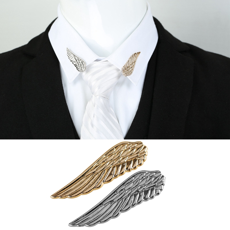 Men Stylish Wedding Business Suit Tie Clip Wing Tie Bars Pin Clasp Gift Accessories