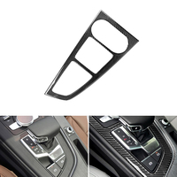 Car Styling Real Carbon Fiber Center Console Gear Shift Panel Cover Frame Trim For Audi A4L A5 2017 2018 / For A4 B9 2016 2017