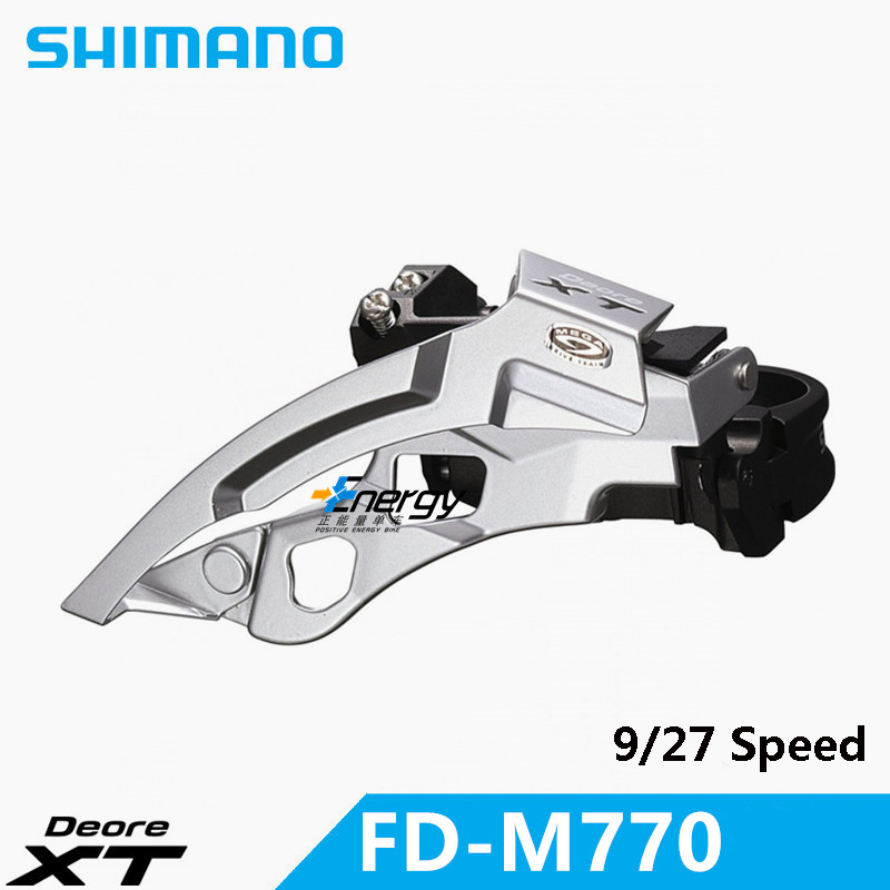 SHIMANO Deore XT FD-M770 Передний Переключатель скоростей MTB велосипед части для горного велосипеда 3x9 переключатель коробки передач Бесплатная доста...