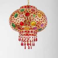 Rotating colorful lanterns pendant lamps balcony corridor hotel wedding red decorated lighting pendant lights ZA626 ZL153 YM