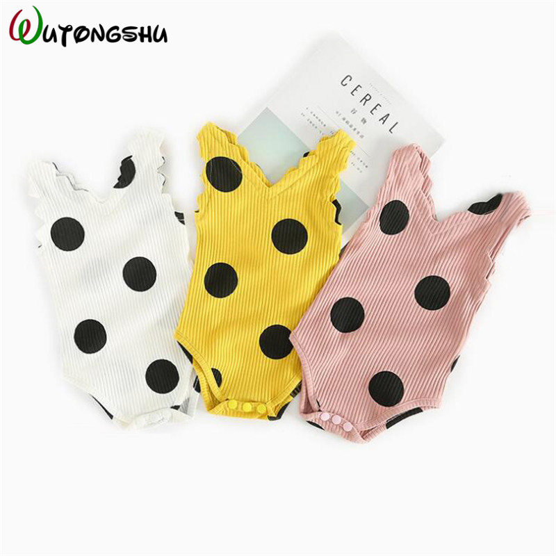 Baby Bodysuits For Girls Cute Bebes Clothes Sleeveless Cotton Newborn Girl Summer Clothes For 0-24M Infant Jumpsuits Baby Onesie