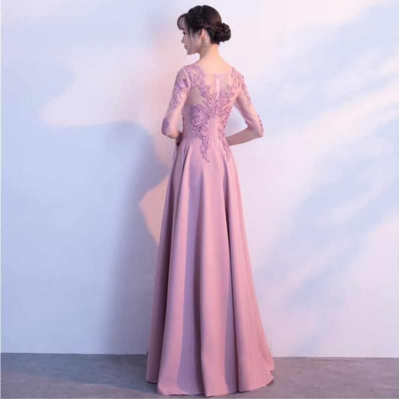 1c2806d2a ... Ruthshen 2018 Vestidos De baile Vestidos De Gala Largos apliques Sexy  mitad mangas fiesta Vestidos elegantes ...