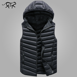 Image 1 - Winter Sleeveless Jacket Men Casual Down Vest Men Warm Thick Hooded Coats Male Cotton Pad Mens Work Waistcoat Gilet Homme L 4XL