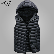 Winter Sleeveless Jacket Men Casual Down Vest Men Warm Thick Hooded Coats Male Cotton Pad Men's Work Waistcoat Gilet Homme L-4XL