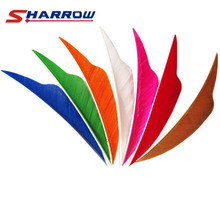 60 Pcs 4 inch Multicolor Turkey Feather for Archery Hunting and Shooting Arrow