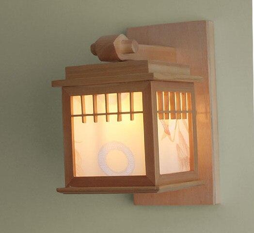 US $106.78 25% OFF|Japanischen stil tatami boden lampe ganglichter veranda  lichter balkon licht holz wandleuchte lampen beleuchtung wand förderung in  ...