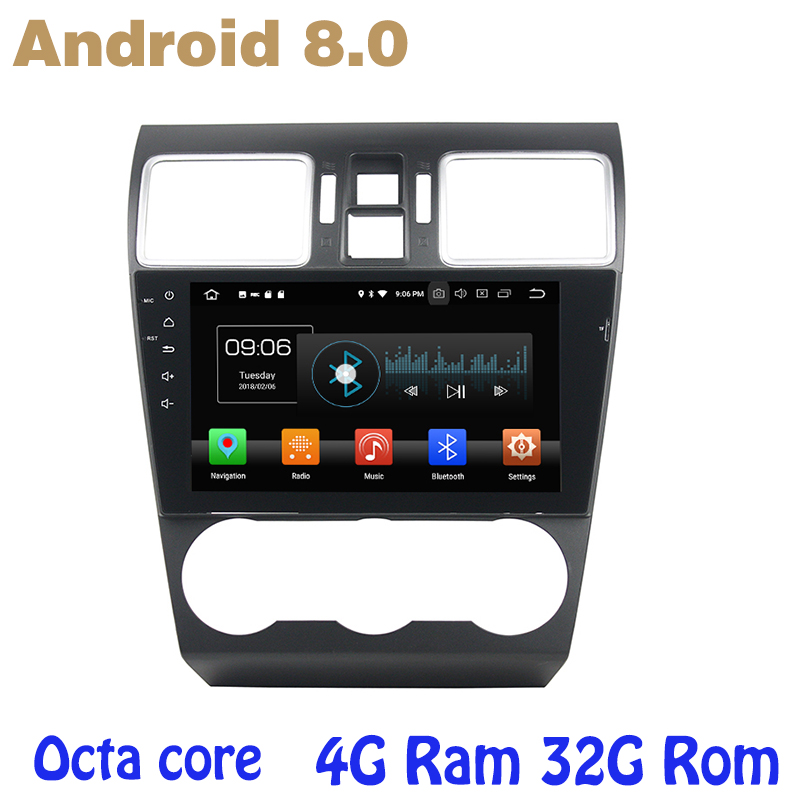 US $298 4 20% OFF|Android 8 0 Octa core PX5 car radio gps for Subaru WRX  with 4G RAM 32G ROM wifi 4g usb auto Multimedia-in Car Multimedia Player  from