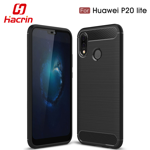 huawei p20 lite case p 20 lite cover coque shockproof carbon fiber bumper tpu silcone protector. Black Bedroom Furniture Sets. Home Design Ideas