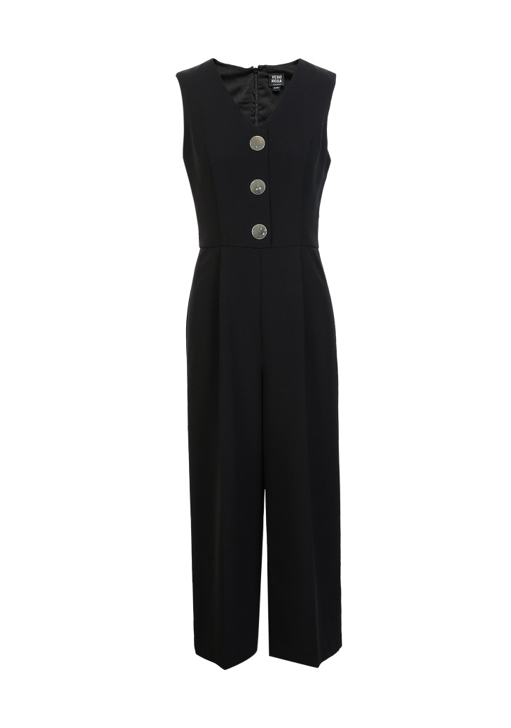 Vero Moda spring fashionable V-collar loose-leg cropped Jumpsuits for women |318144507 17