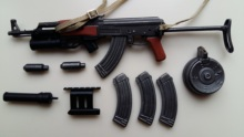 1:6 Scale Weapon Gun Model AKS47 Folding fit for 12 Action Figure Accessories