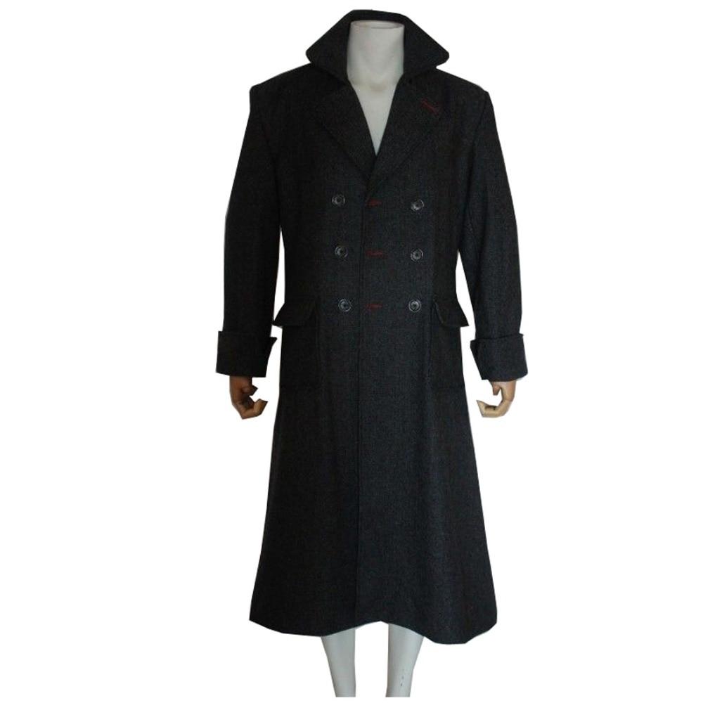 2018 Sherlock Holmes Sherlock Holmes Casaco Adulto Traje Cosplay Filme Costume Fazer Preto Roupa Vestido Para Mulheres Dos Homens