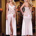New Women Long Romantic Nightgown Wedding Bridal Sexy Lingerie Erotic Underwear Sexy Pajamas lenceria sexy underwear