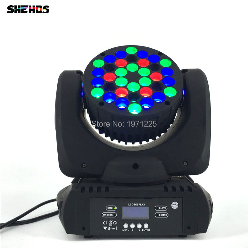 2018 The Latest 36X3W Beam Moving Head Light RGBW 4 in 1 LED Wash Moving Disco Nightclub Stage Lighting