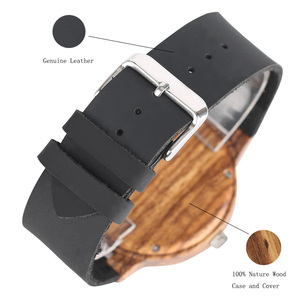 Image 4 - אופנתי Les Feuilles Mortes דפוס פנים עץ שעונים עבור גברים ונשים בציר בעבודת יד עץ זכר נקבה Quarzt שעון מתנה