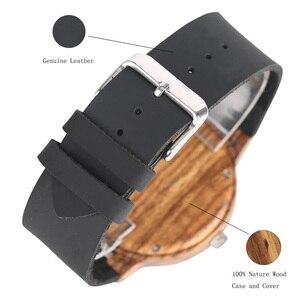 Image 4 - Élégant Les Feuilles Mortes motif visage bois montres pour hommes et femmes Vintage artisanal en bois mâle femelle quarzt watch cadeau