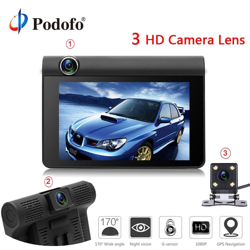 Podofo 4 0 Car font b Cameras b font Three font b Cameras b font Car