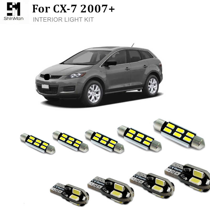 7X canbus <font><b>LED</b></font> Interior Light Kit for <font><b>mazda</b></font> <font><b>CX7</b></font> CX-7 2007+ Error Free <font><b>led</b></font> dome lightcar accessories free shipping image