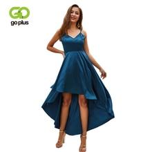 GOPLUS Solid Silk Straps Strapless Elegant Dress Women Sexy V Neck Sashes High Waist Maxi Summer Party Vestidos Female