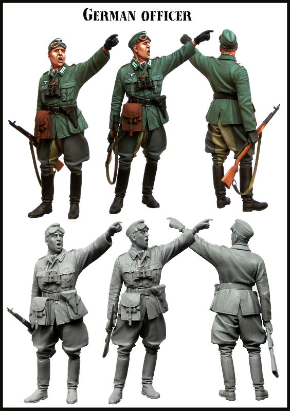 [tuskmodel] 1 35 scale resin model figures kit German E128