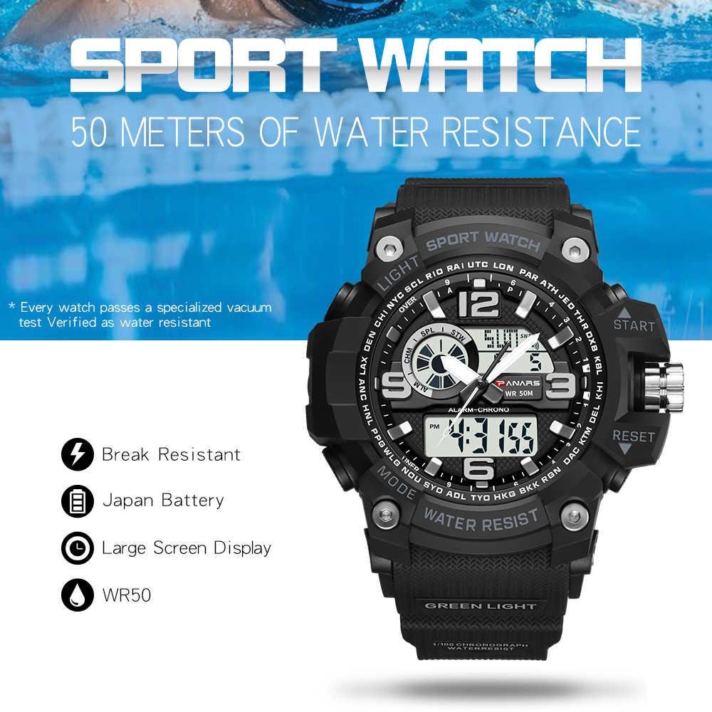 Panars camuflagem militar relógio digital homem fitnes à prova dwaterproof água esporte ao ar livre relógio com bússola relogio masculino digital