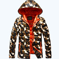 Envío gratis AFS JEEP hombres de la marca de invierno chaqueta de camuflaje calidad luz abajo cubre super mantener caliente chaqueta de los hombres 180