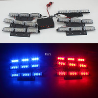 Hot 54 LED Flash Emergency Car Strobe Lights Yellow Automotive Explosive Car Front Grille Deck Strobe Flashing Lamp Whosesale