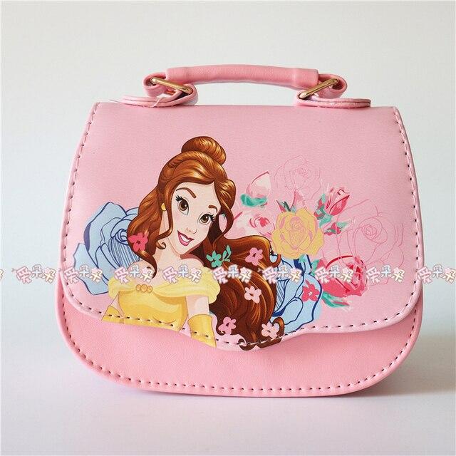 New Fashion Beauty And Beast Wallet Belle Princess Handbag High Quality S Cartoon Shoulder Bag Baby
