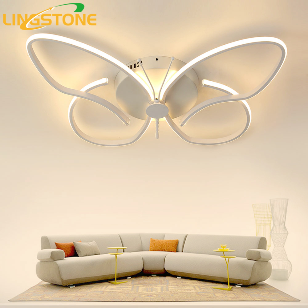 Led Ceiling Light with Remote Control Modern Ceiling Lamps for Living Room Home Lighting Kids Room Decoration Light Fixture modern remote control led lamp ceiling light fixture living room bedroom christmas decoration for home lighting white metal 220v