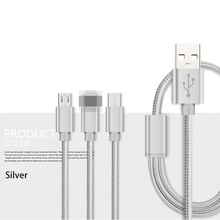 ONEVAN data line three-in-one multi-function fast charging one to three braided